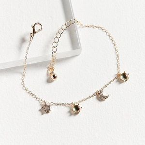 NWT Urban Outfitters Celestial Charm Bracelet Gold